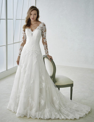 Gatehouse Brides White One Wedding Dresses FABRIA Front