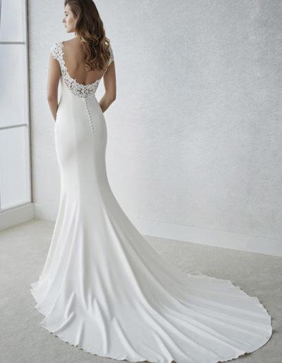 Gatehouse Brides White One Wedding Dresses FIANA Back