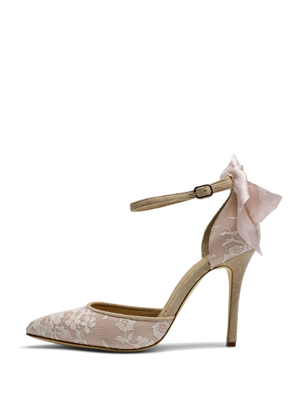 Bridal Shoes Worcester Di Hassall HONEY(BACK BOW)_SIDE