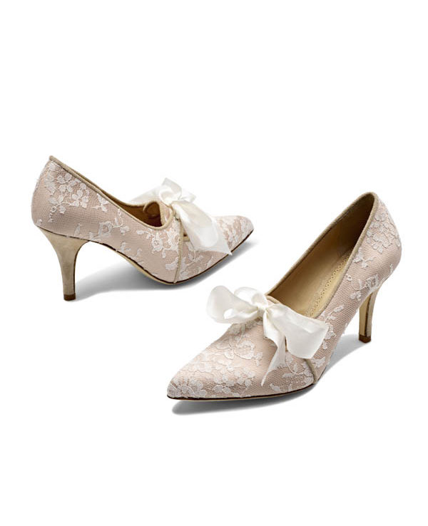 Bridal Shoes Worcester Di Hassall ROCCO White Ribbon